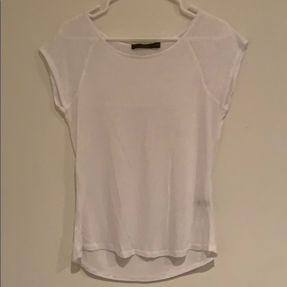 The Limited Tops - The Limited semi sheer white tee.